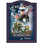 USMC Personalized Welcome Sign - Hero's Welcome