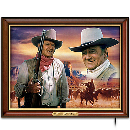 John Wayne Illuminating Canvas Print: Light Of A Legend