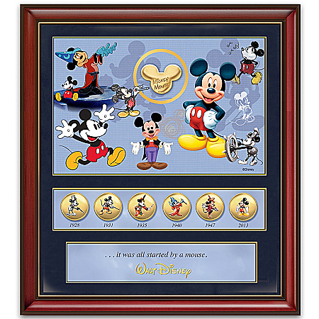 85th Anniversary Wall Decor: Disney Mickey Mouse Commemorative Print