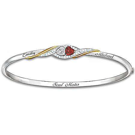 Bracelet: Two Hearts Become Soul Mates Personalized Bracelet