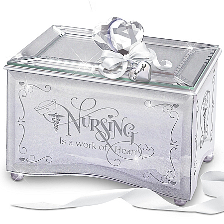 Gifts for Nurses Gifts for Nurses: Nurses Personalized Mirrored Music Box: Reflections Of Tender Loving Care