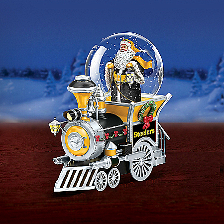 Musical Snow Globes Pittsburgh Steelers Water Globe Train