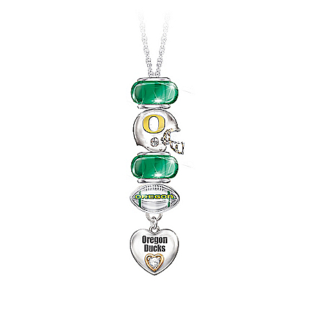 Go Ducks! #1 Fan Charm Necklace by The Bradford Exchange Online - Lovely Exchange