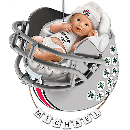 Ohio State Buckeyes Personalized Baby's First Ornament