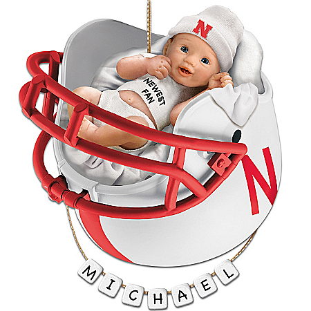 Nebraska Cornhuskers Personalized Baby's First Ornament