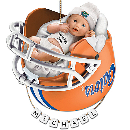 Florida Gators Football Personalized Baby's First Ornament by The Bradford Exchange Online - Lovely Exchange