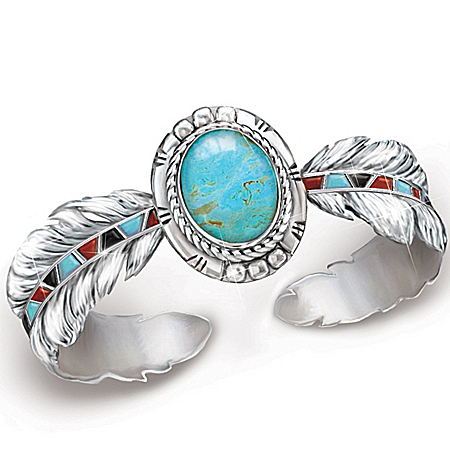 Turquoise Women's Bracelet: Sedona Sky by The Bradford Exchange Online - Lovely Exchange