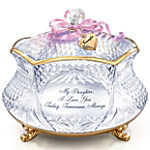 Daughter Personalized Crystal Music Box - My Daughter, I Love You
