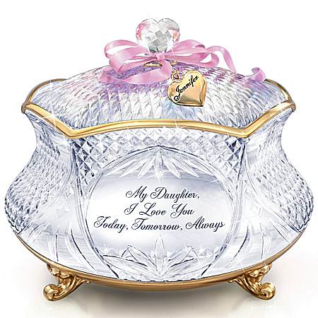 Image of Daughter Personalized Crystal Music Box: My Daughter, I Love You