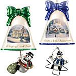 Christmas Ornaments - Thomas Kinkade Ringing In The Holidays Ornament Set - Set 7