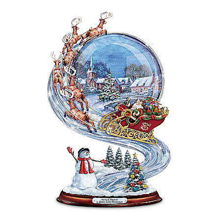 Richard Macneil Santa Sleigh Ride Christmas Sculpture: A Holly Jolly