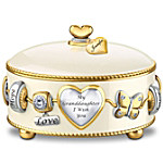 Granddaughter, I Wish You Heirloom Porcelain Personalized Music Box