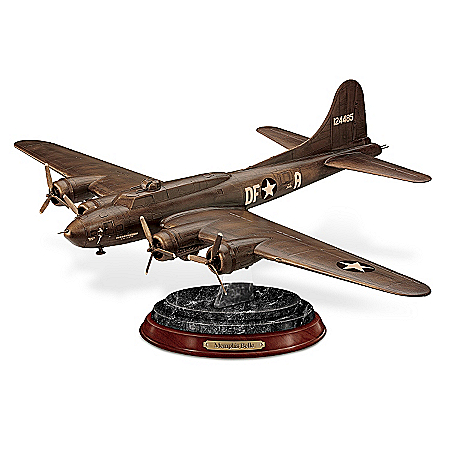Sculpture: Memphis Belle Cold-Cast Bronze Sculpture by The Bradford Exchange Online - Lovely Exchange