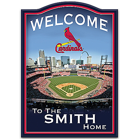 Photo of MLB St. Louis Cardinals Personalized Welcome Sign by The Bradford Exchange Online
