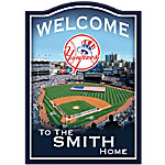 MLB New York Yankees Personalized Welcome Sign Wall Decor