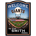 Wall Decor - San Francisco Giants Personalized Welcome Sign Wall Decor
