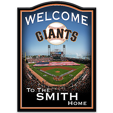Wall Decor: San Francisco Giants Personalized Welcome Sign Wall Decor