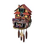 Train Cuckoo Clock - Golden Spike