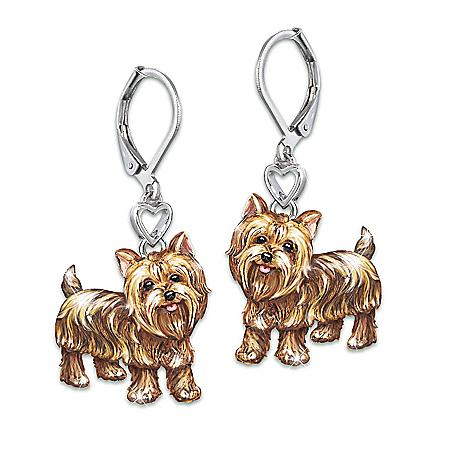 Playful Pups Women's Sculpted Dog Earrings