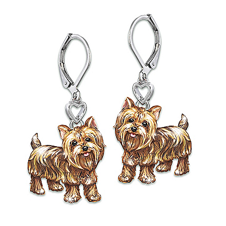 Playful Pups Women's Sculpted Dog Earrings