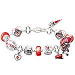 The Ohio State Buckeyes #1 Fan Charm Bracelet - Go Buckeyes!