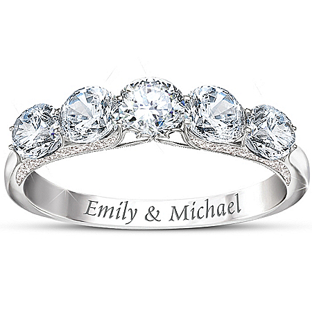 Photo of Personalized Diamonesk Ring: Anniversary Ring by The Bradford Exchange Online