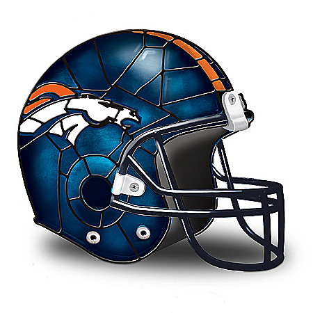 Photo of NFL Denver Broncos Accent Helmet Lamp by The Bradford Exchange Online