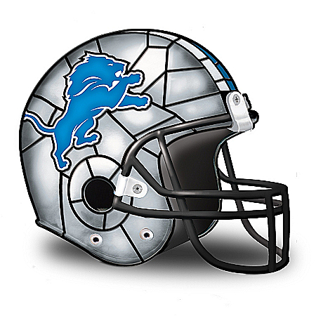 NFL Detroit Lions Accent Helmet Lamp by The Bradford Exchange Online - Lovely Exchange