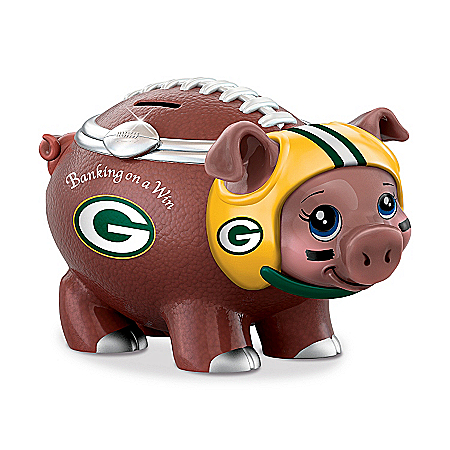NFL Green Bay Packers Football Piggy Bank: Banking On A Win