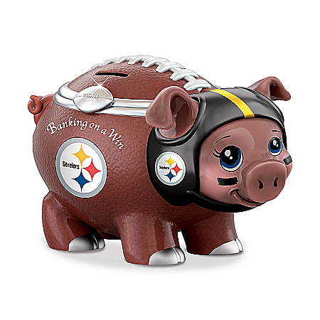 NFL Pittsburgh Steelers Football Piggy Bank: Banking On A Win
