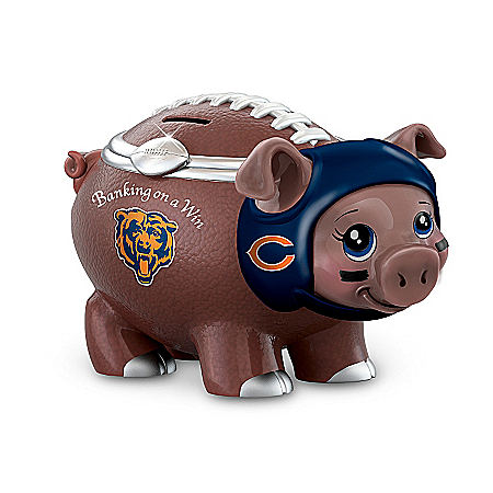 NFL Football Piggy Bank: Banking On A Win Chicago Bears