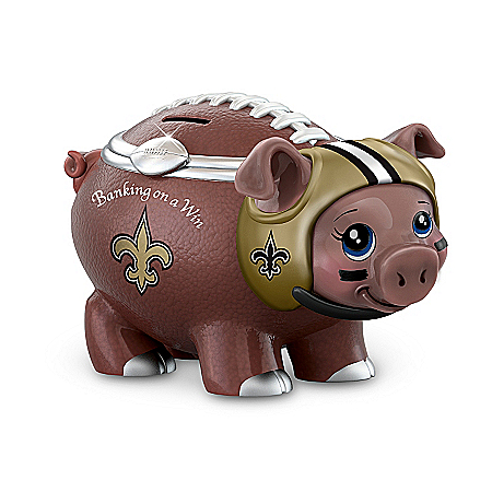 NFL Football Piggy Bank: Banking On A Win New Orleans Saints