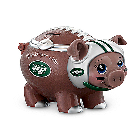 NFL Football Piggy Bank: Banking On A Win New York Jets