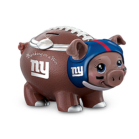NFL Football Piggy Bank: Banking On A Win New York Giants