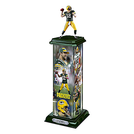 NFL Trophy Sculpture: Aaron Rodgers Legend In Action