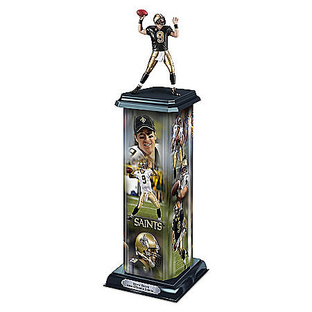 NFL Trophy Sculpture: Drew Brees Legend In Action