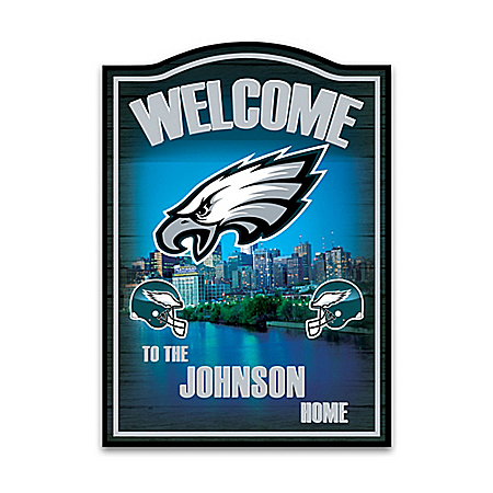 NFL Philadelphia Eagles Personalized Welcome Sign Wall Decor