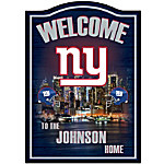 NFL New York Giants Personalized Welcome Sign Wall Decor