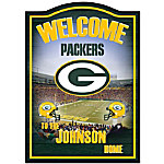 NFL Green Bay Packers Personalized Welcome Sign Wall Decor
