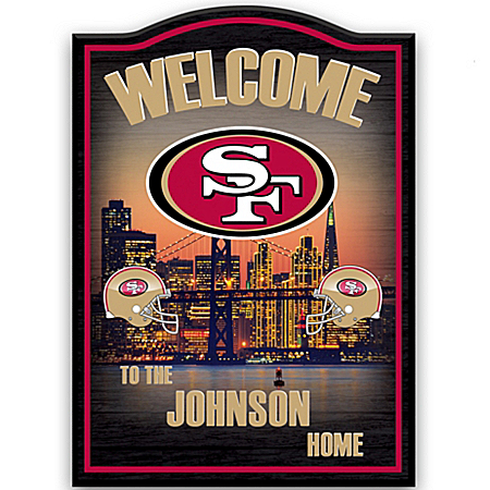Personalized Wall Decor: San Francisco 49ers Welcome Sign