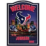 Houston Texans Wooden Personalized Welcome Sign