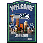 Wall Decor - Seattle Seahawks Personalized Welcome Sign Wall Decor