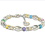 Personalized Birthstone Bracelet My Family, My Joy
