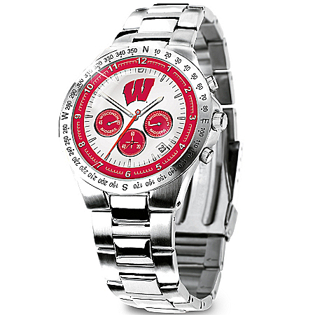 Wisconsin Badgers Collector's Watch by The Bradford Exchange Online - Lovely Exchange