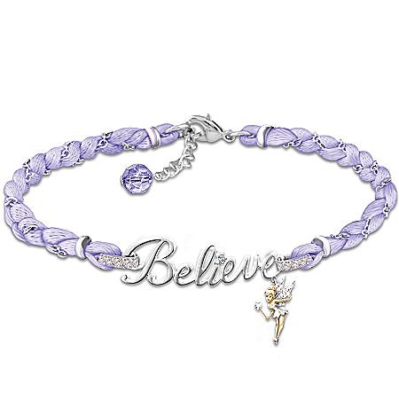 Disney Tinker Bell Believe Crystal Bracelet