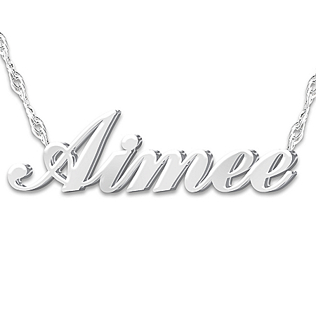 Personalized Diamond Necklace: Granddaughter, I Love You