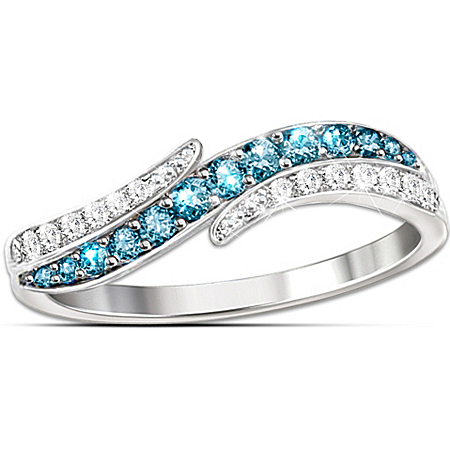 Ring: Tranquil Reflections Contemporary Diamonesk Ring