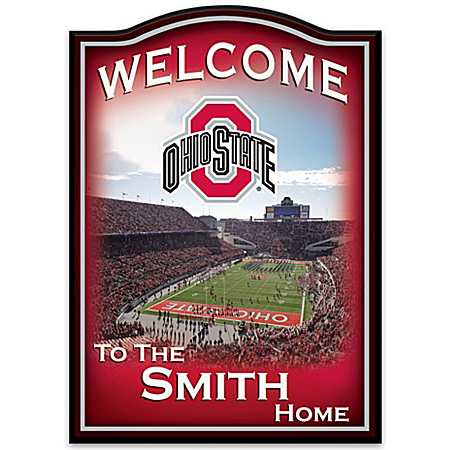 Ohio State Buckeyes Personalized Welcome Sign – Personalized Jewelry