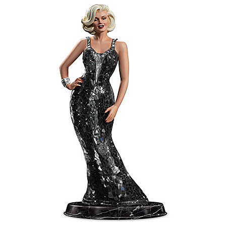 Platinum Perfection From Marilyn Little Black Dress Sculpture by The Bradford Exchange Online - Lovely Exchange