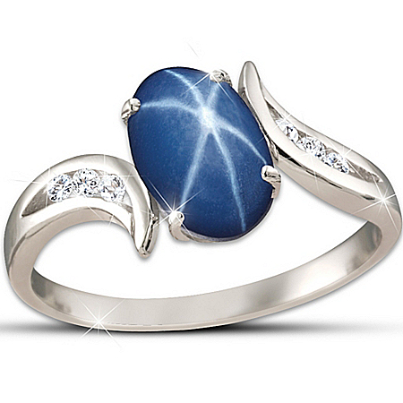 Ring: Sky Gazer Ring by The Bradford Exchange Online - Lovely Exchange